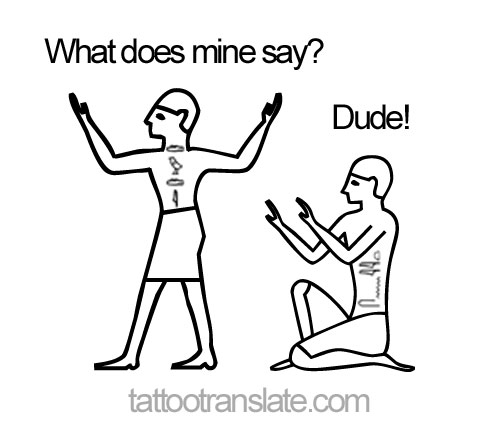 FREE Egyptian Hieroglyph Tattoo Text Translation - TattooTranslate.com